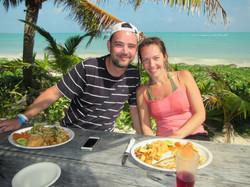 repas sur plage Punta Alen