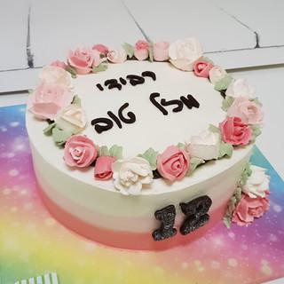 עוגת פרחים לבת מצווה