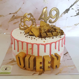 עוגת טפטופים , נגיעות זהב וכתר