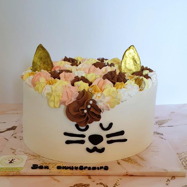 עוגת חתולה טבעונית