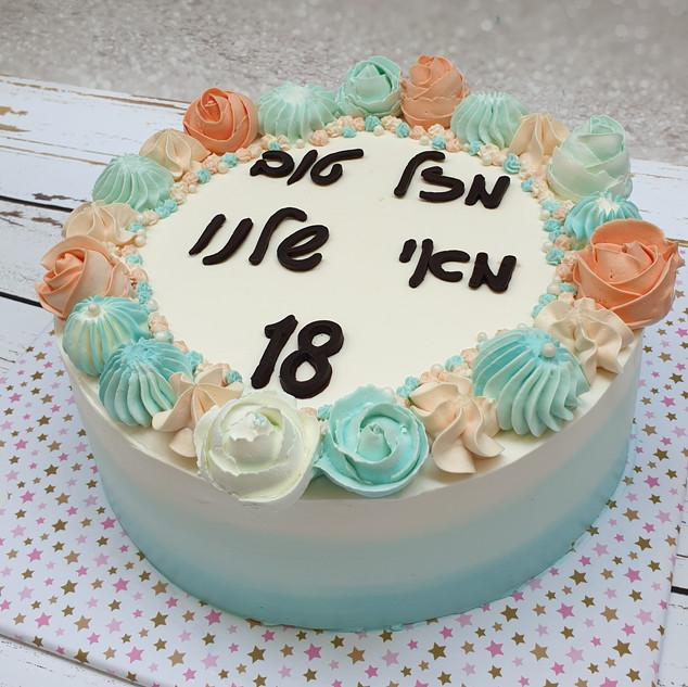 עוגת פרחים מאי