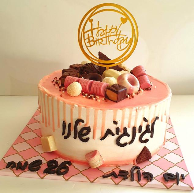 עוגת חטיפי שוקולד