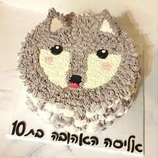 עוגה טבעונית בעיצוב זאב