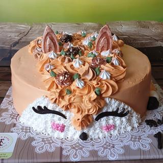 עוגת שועל טבעונית