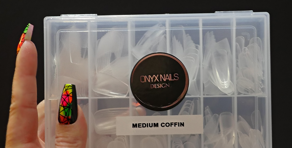 Medium Coffin Clear Tips