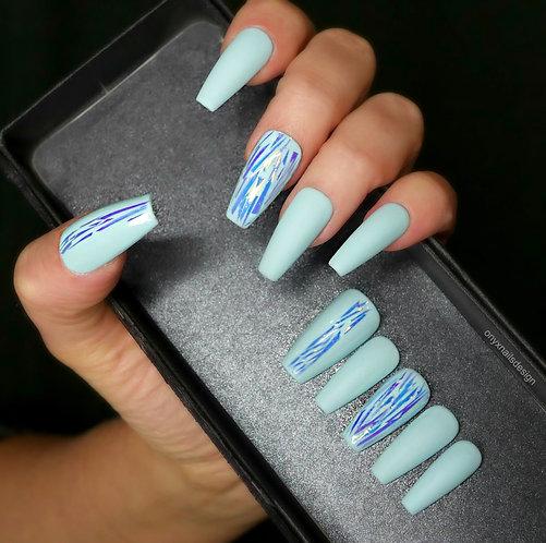 Baby blue foil