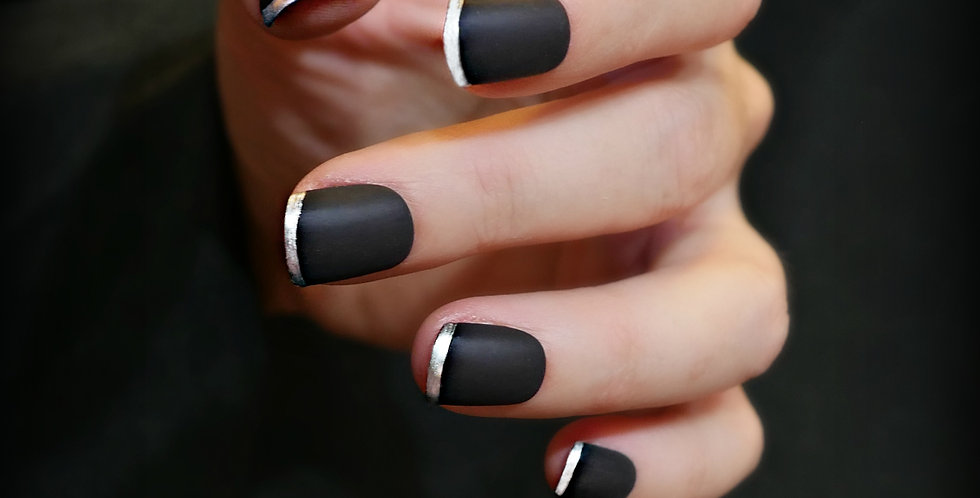 Black and Chrome French tip