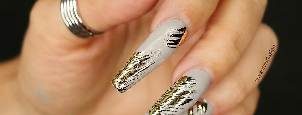 Slashed gold