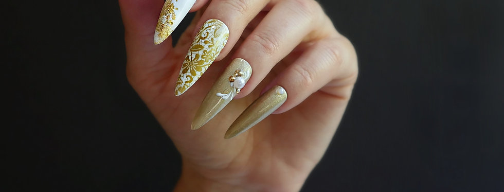 Victorian gold Lace