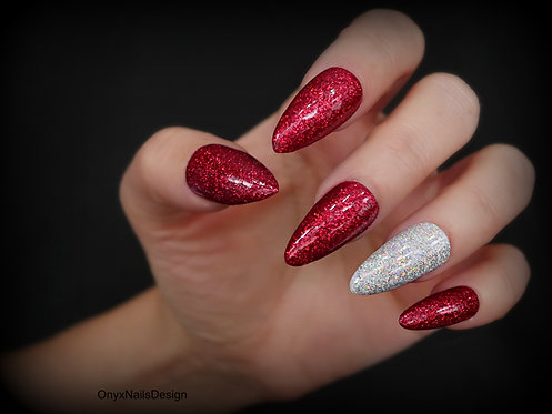 Red and Silver Glitter Glam