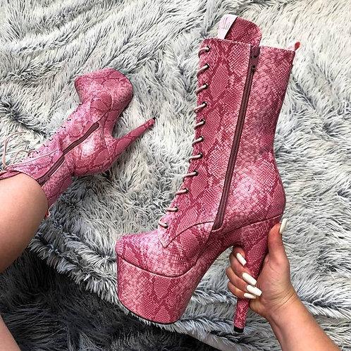 Candy Cobra Boots -7 INCH HELLA  HEELS