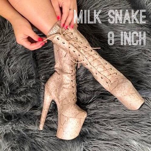 Milk Snake Boots-8 INCH HELLA HEELS