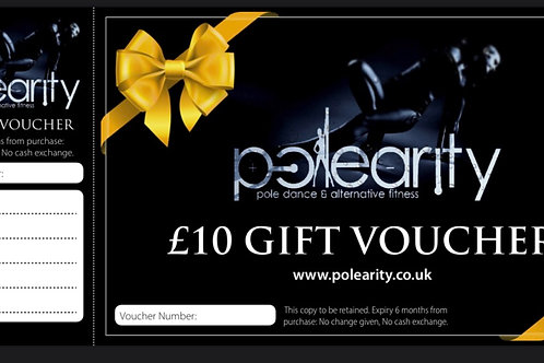 Polearity Gift Voucher £10:00