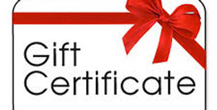 Gift Certificate ($120 value)