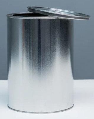 5 litre Tin Plain TT & Lid - no handle