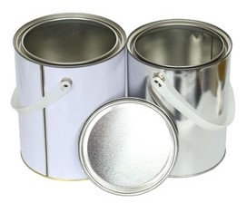 5litre Tin White TT - with handle