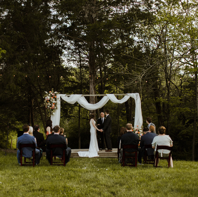 Bekah + Austin   Modern & Organic Backyard Wedding + Dinner Party