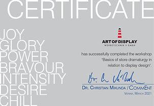 AOD Zertifikat Mikunda Workshop