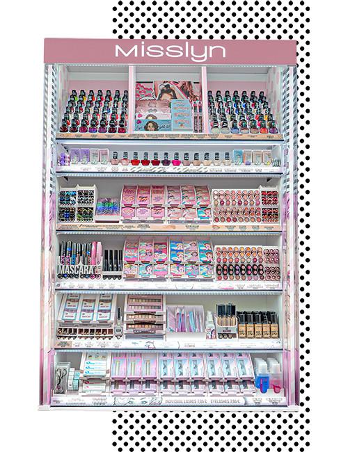 Pink, jung, modern:  POP-ART TRIFFT BEAUTY Extrabreite Preisstreifen bieten  extra viel Visualfläche.