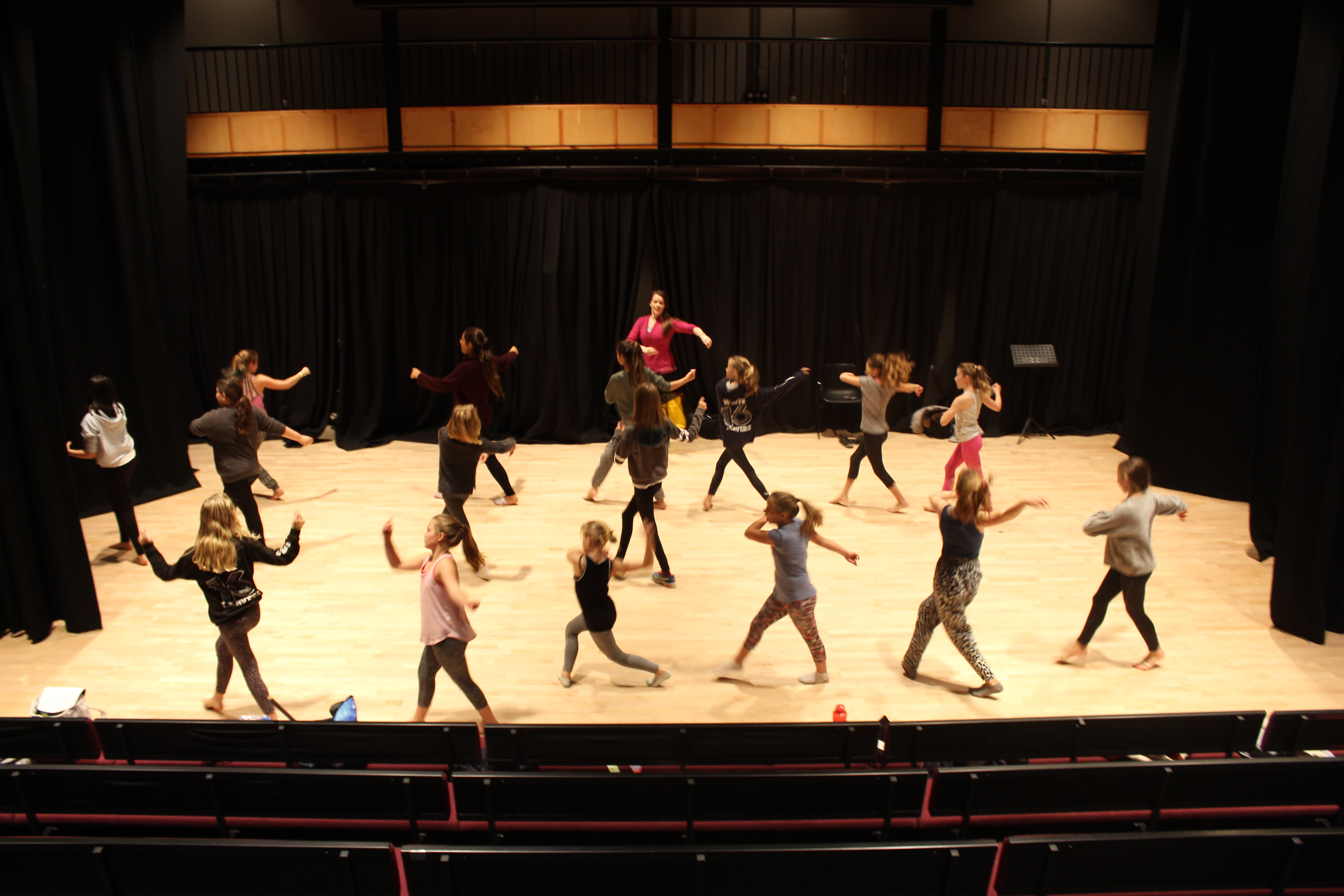Rehearsing in the theatre