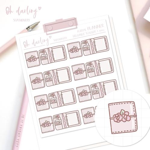 "Foldable Sticker ""Floral Planner"""