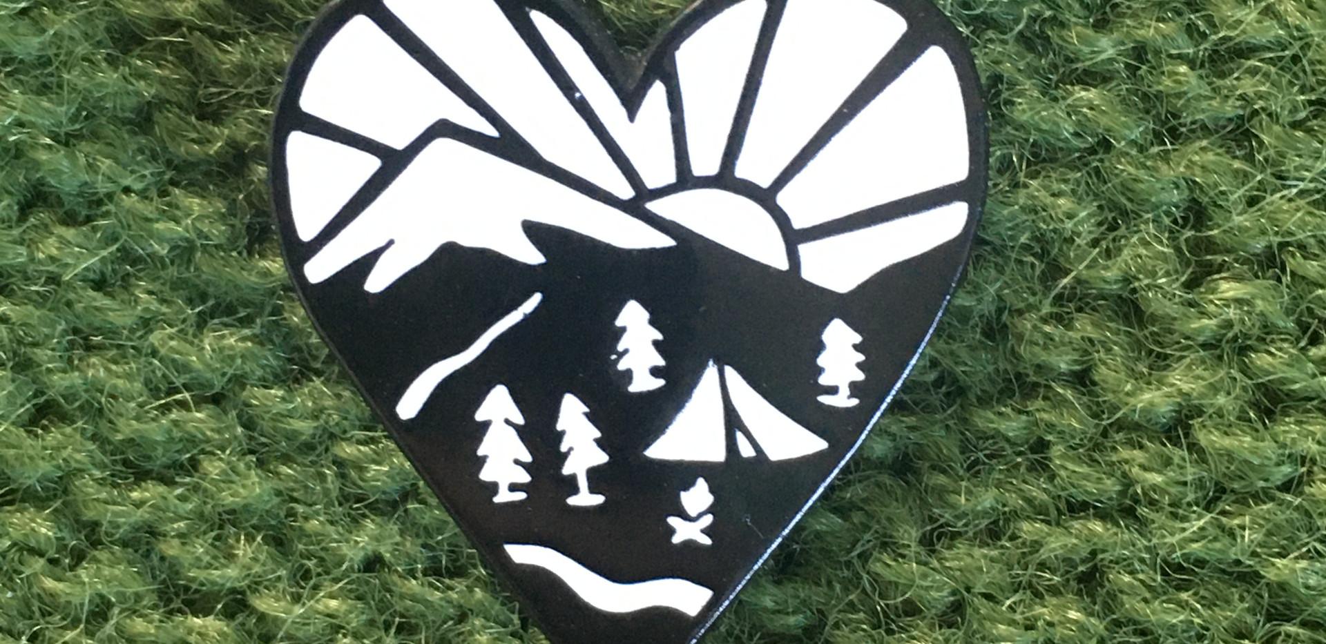 Love Camping Pin