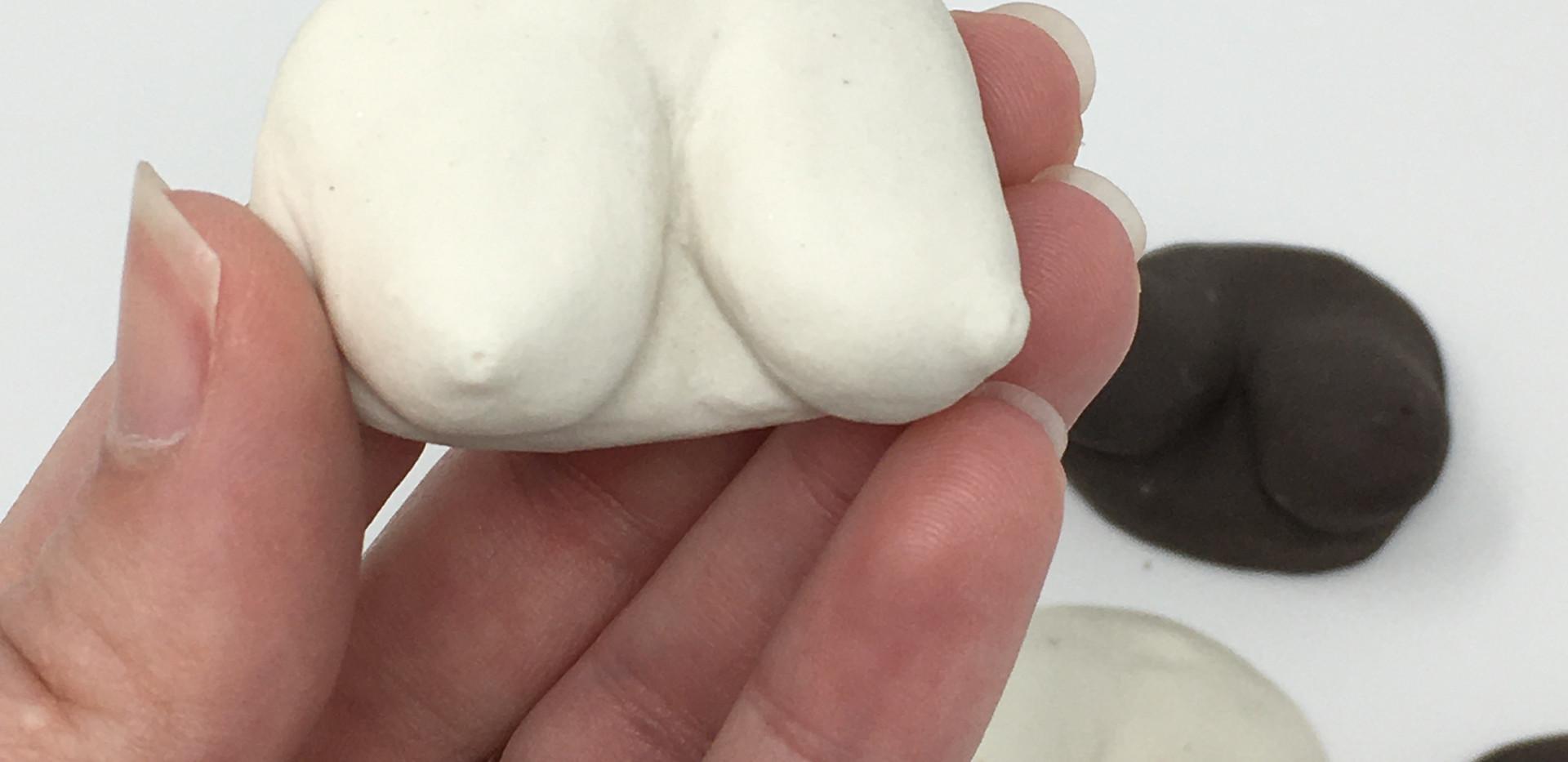 Porcelain Ceramic Boobs
