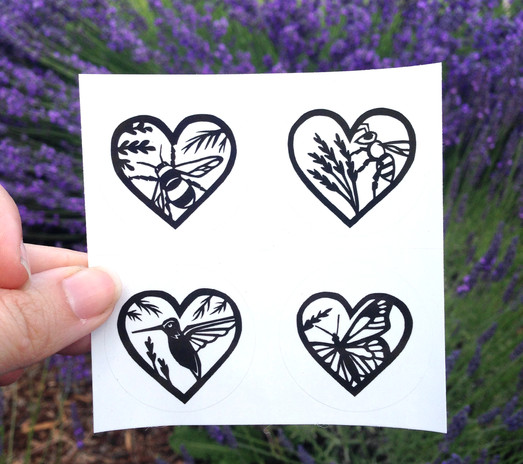 Lovely Pollinator Stickers