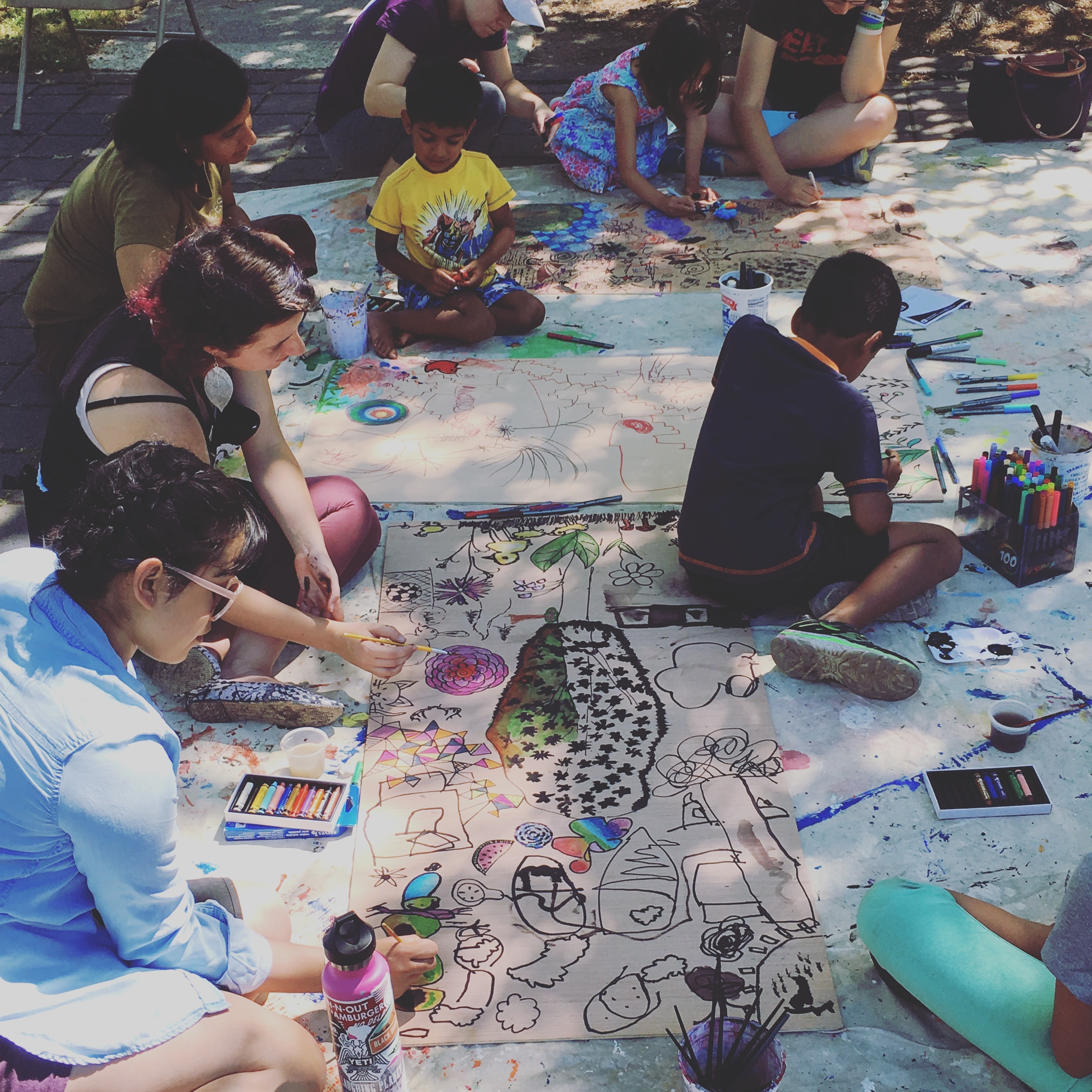 Painting and Drawing in the Park