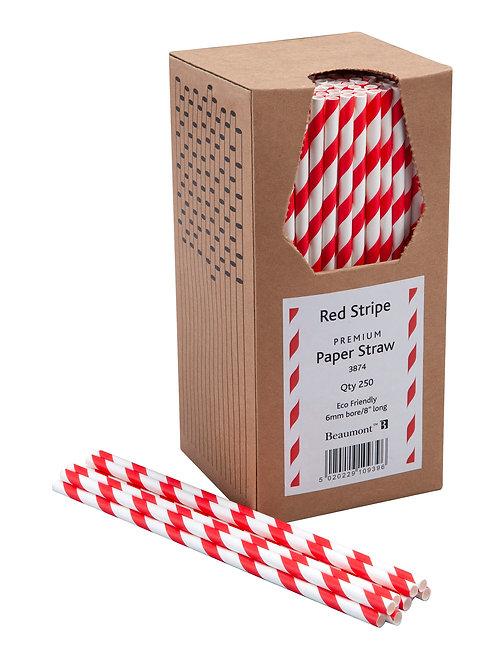 Pailles Carton Rouge&Blanc