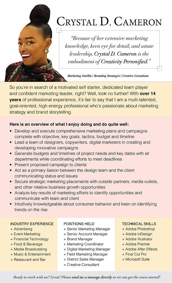 Crystal D. Cameron - Professional Descri