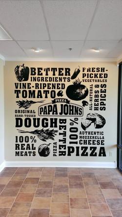 Papa John's Wall