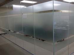 Etched Vinyl adds privacy