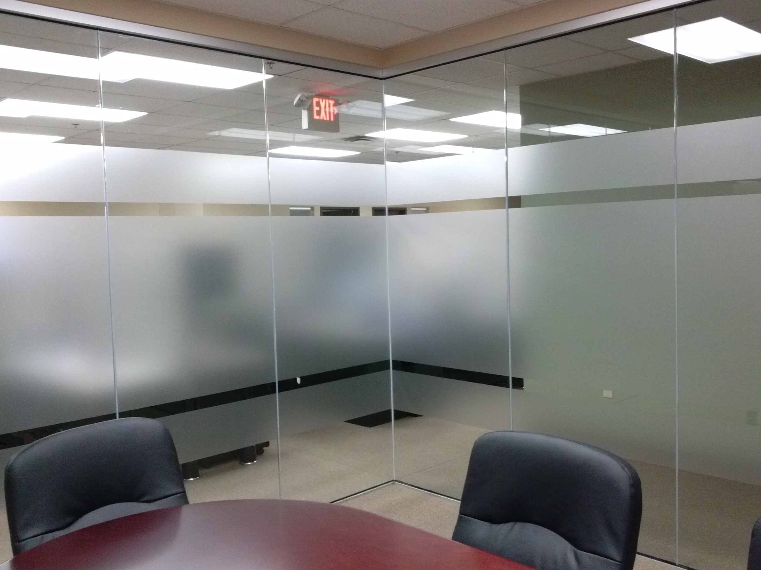 Etched vinyl for Conference Rooms