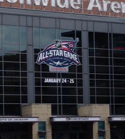 NHL All-Star with Honda Logo