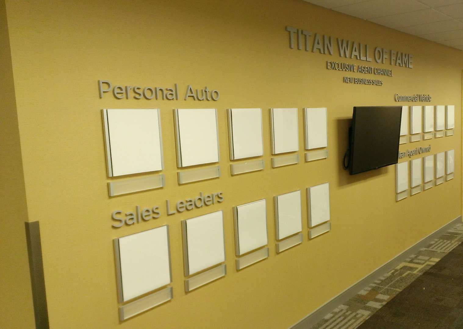 Corporate wall displays