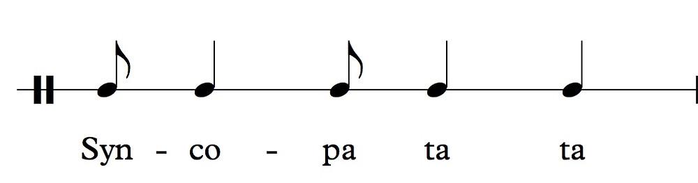 Syn-co-pa ta ta rhythm