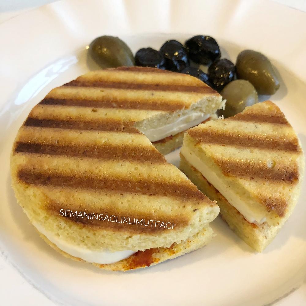 glutensiz ekmek, sağlıklı tost, tost ekmeği, badem unu