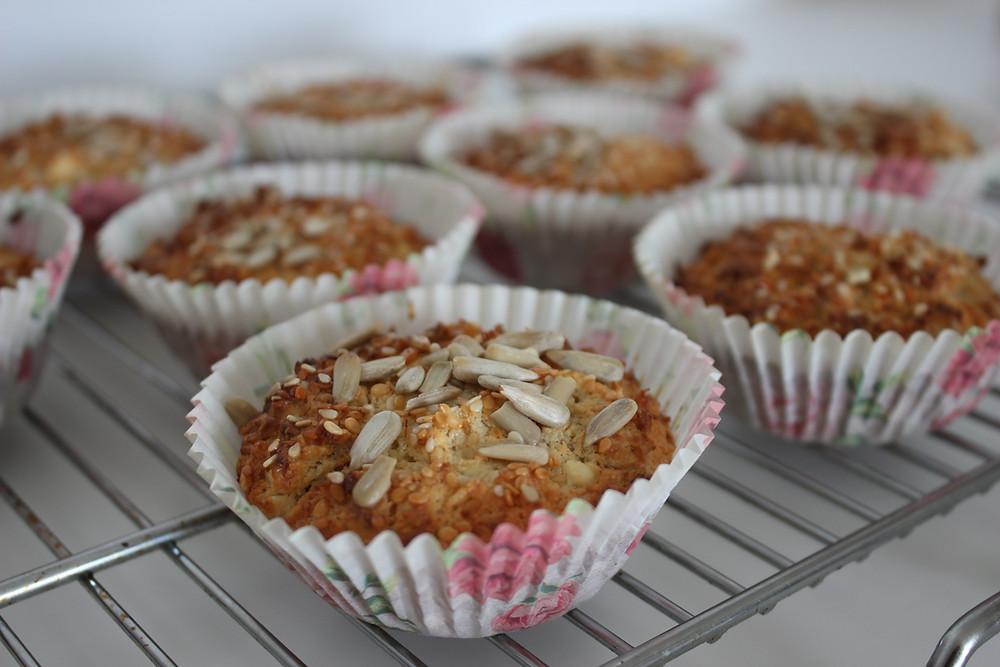 yulaflı muffin , tuzlu kek