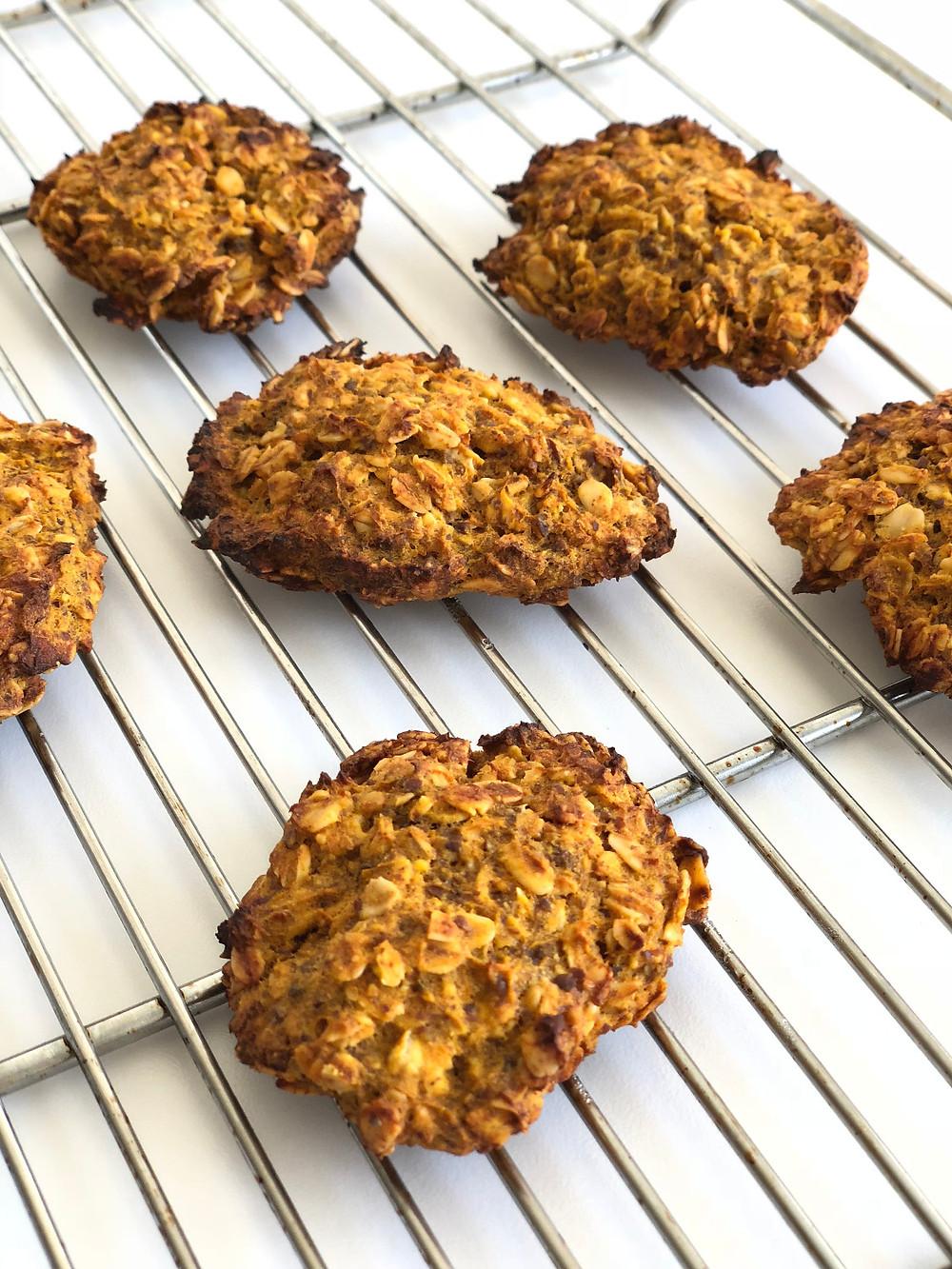 balkabaklı kurabiye, kurabiye, yulaf ezmesi, vegan
