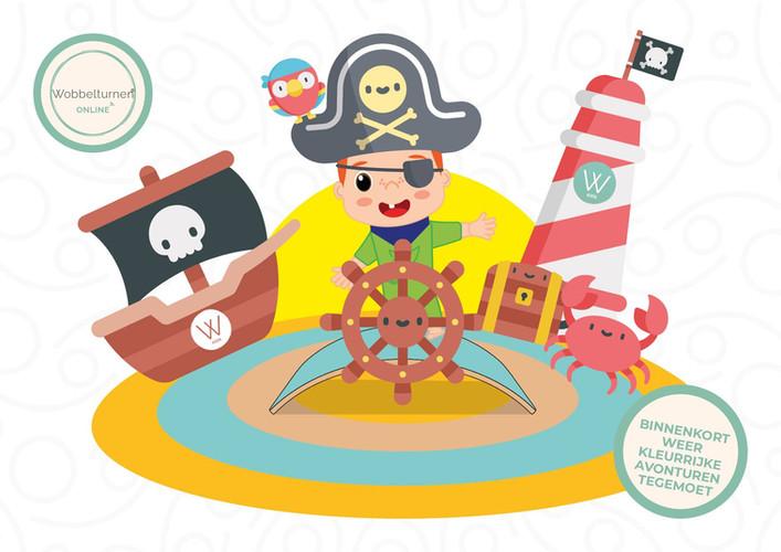 Piraten thema wobbelturnen kids