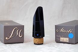 """Imboccatura Storti """"Serie Eolo""""modello Blu, per clarinetto Mib"""