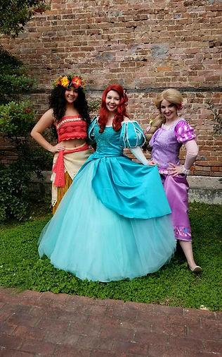 Mermaid| Princess Parties| Ever After Productions| TN| Nashville| Alabama | Murfreesboro | Tullahoma | Mancheter | Rapunzel | Ariel | Moana