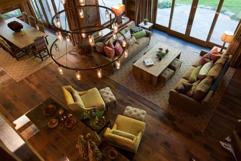 Chandelier Over Living Room