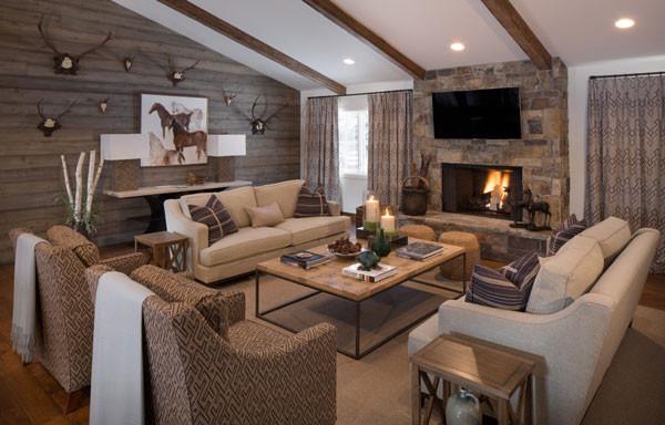 Living Room Mountain Preppy