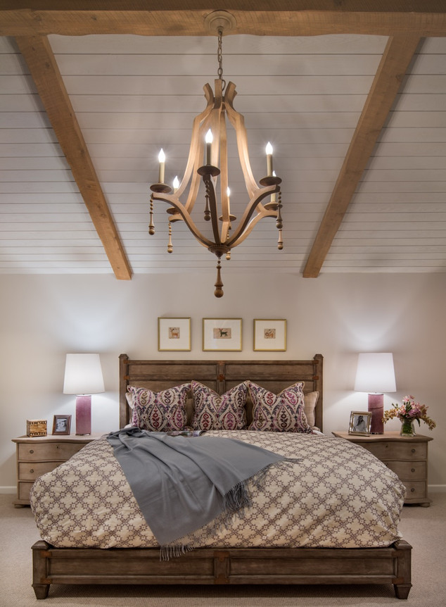 Bedroom with Chandelier