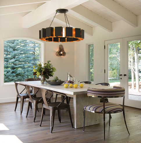 Dining Table with Chandelier