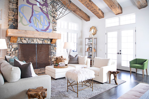 Living Room and Fireplace