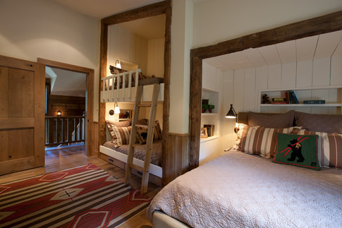 Inlaid Bunk Bed and Guest Bed