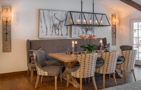 Dining Table with Light Fixture